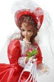 Poupée de mariée dans une robe rouge Photos libres de droits