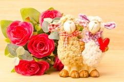 Poupée de moutons de couples Image libre de droits