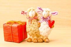 Poupée de moutons de couples Photographie stock libre de droits