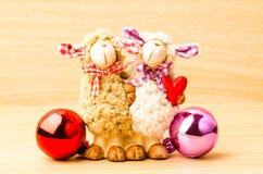 Poupée de moutons de couples Images libres de droits