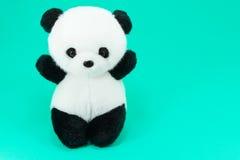 Poupée de panda noire et blanche, jante noire des yeux Image libre de droits