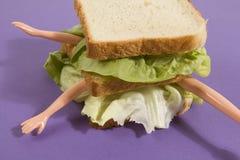 Poupée de sandwich Photo libre de droits