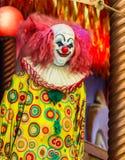 Poupée effrayante de clown Photographie stock libre de droits