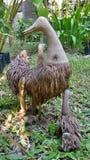 Poupée en bambou de canard de racine Photographie stock libre de droits
