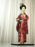 Poupée japonaise de kimono Images libres de droits