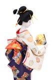 Poupée japonaise traditionnelle de geisha Image libre de droits