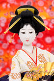 Poupée japonaise traditionnelle de geisha Photo stock