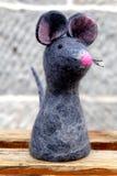Poupée mignonne de souris de laine Image libre de droits