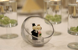 Poupée miniature de décor de couples de mariage Image libre de droits