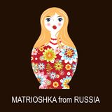 Poupée russe traditionnelle de matrioshka de matryoshka Photo stock