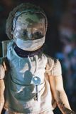 Poupée terrible des films d'horreur Images libres de droits