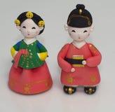 Poupées coréennes en céramique Images libres de droits