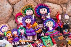 Poupées de chiffon de Cuzco Pérou photographie stock libre de droits