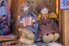 Poupées de chiffon folkloriques slaves Photos stock