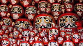 Poupées de Daruma de temple de Katsuoji au Japon Image libre de droits