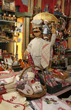 Poupées de marionnette dans la boutique de Lyon Photographie stock libre de droits