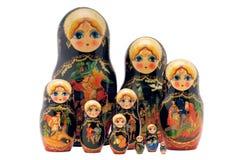Poupées de Matryoshka, d'isolement sur le blanc Image libre de droits