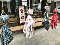 Poupées de moine de soleil au Japon photographie stock libre de droits