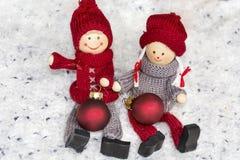 Poupées de Noël heureux Photos stock