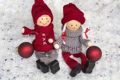 Poupées de Noël heureux Images libres de droits