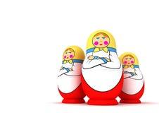 poupées emboîtant le russe Photographie stock libre de droits