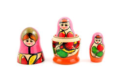 Poupées en bois de matryoshka de la Russie Image stock