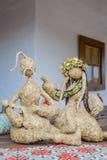 Poupées folkloriques ukrainiennes image stock