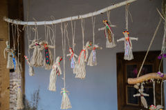 Poupées folkloriques ukrainiennes photo stock
