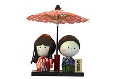 poupées japonaises Photographie stock libre de droits