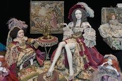 Poupées polymères historiques collectables d'argile d'OOAK par Valentina Yakovleva Image stock