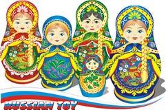 Poupées russes d'emboîtement Photographie stock libre de droits