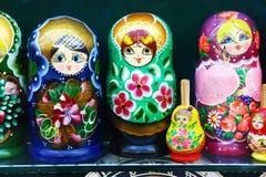 Poupées russes d'emboîtement, Prague Photographie stock