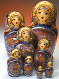 Poupées russes de Matrushka Images stock