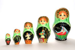 Poupées russes de matryoshka Photo stock