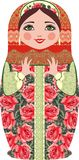 Poupées russes traditionnelles de matryoshka (matrioshka), dans le costume national de style Photos stock