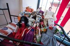 Poupées traditionnelles de beau tissu mexicain Images libres de droits