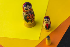 Poupées traditionnelles russes Matrioshka - Matryoshka ou Babushka Images libres de droits
