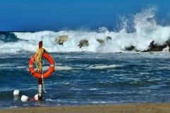 Poupança de vida da praia Imagem de Stock