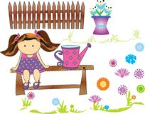 Poupée de jardin Image stock