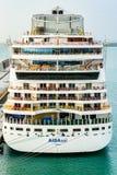 Poupe du bateau de croisière d'Aida Sol AIDAsol images libres de droits