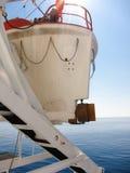 Poupe et propulseur d'un bateau de sauvetage photo libre de droits