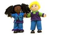 Poupées : deux amis de poupée Photos stock
