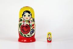 poupées russes d'emboîtement de matryoshka Photos stock