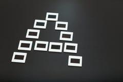 A pour analogique fait avec des diapositives de film de glissière Photo libre de droits
