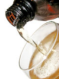 Pour beer in the glass Royalty Free Stock Photography