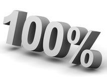 Pour cent Image stock