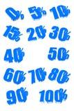 Pour cent illustration stock