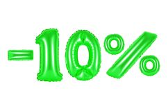 10 pour cent, couleur verte Photographie stock libre de droits