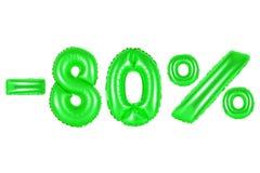80 pour cent, couleur verte Images libres de droits