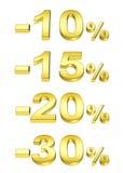 Pour cent d'or Photographie stock libre de droits